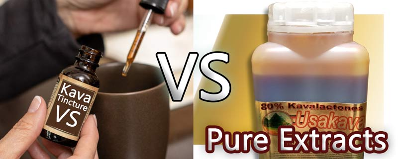 Kava Extract - Tincture vs Kavalactone extracts